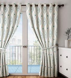 Faux Silk Semi Blackout 7.5 Feet Door Curtain - 1720113