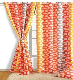 Faux Silk Semi Blackout 7.5 Feet Door Curtain - 1720082