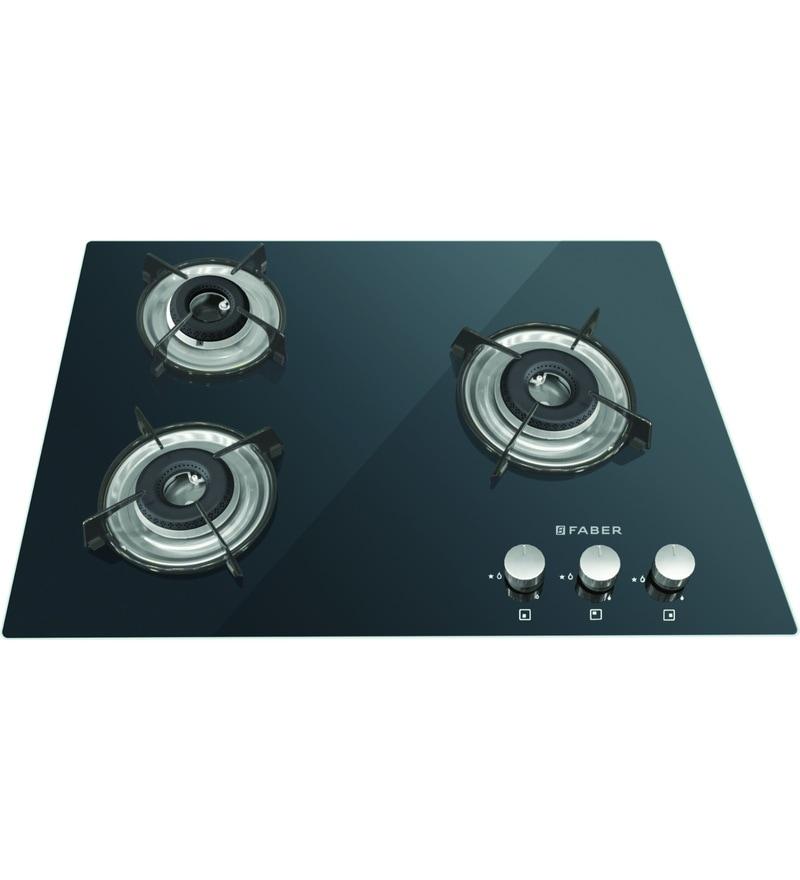FABER 3 Burner Manual Ignition Built-In Hob-Cooktop Hybrid (HCT-653-CRR-LBK-EI-NA)