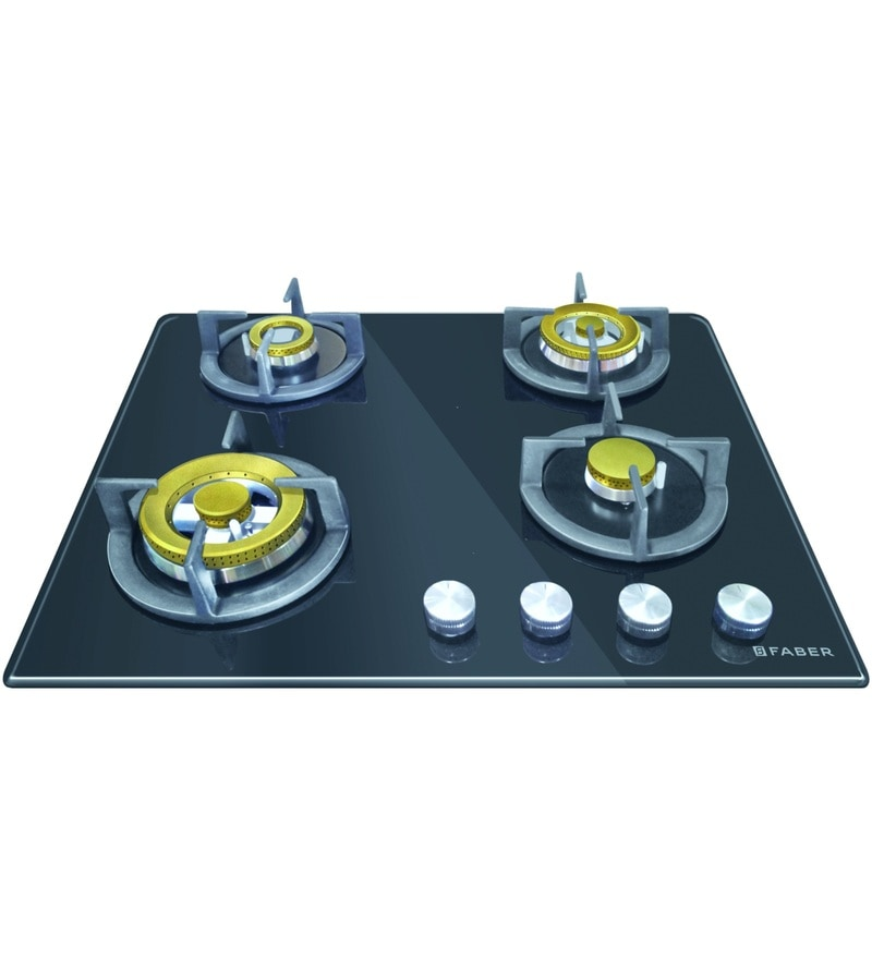 GST RELIEF DEAL - ADDITIONAL 5% OFF :: FABER 4 Burner Auto Ignition Built-In Hob-Cooktop Hybrid (HGG-604-CRR-EBR-CI)
