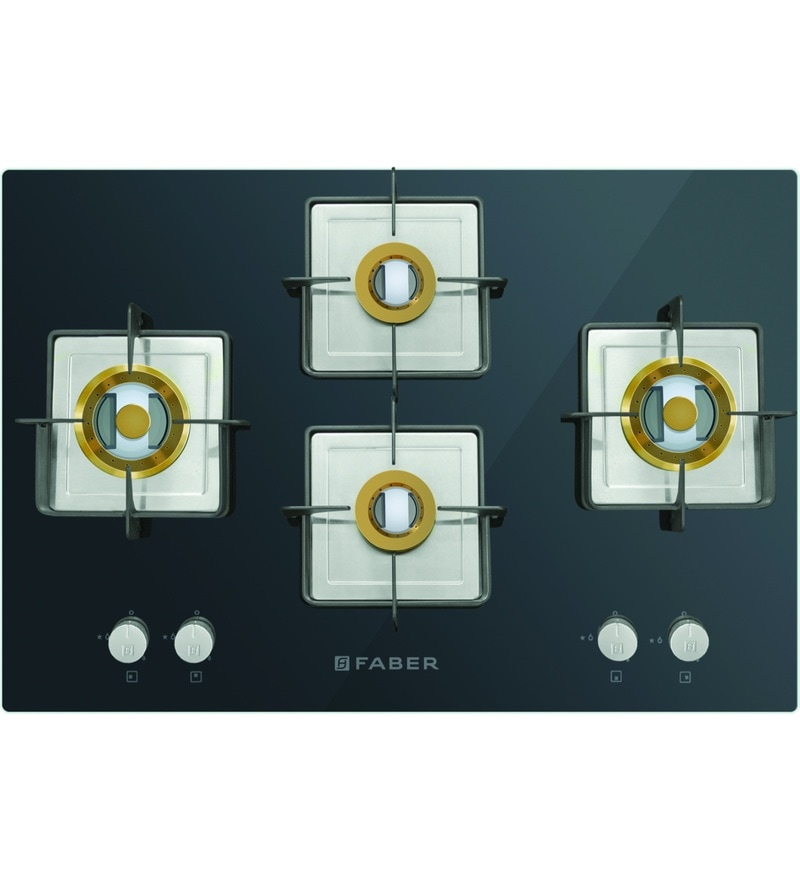 GST RELIEF DEAL - ADDITIONAL 5% OFF :: FABER 4 Burner Auto Ignition Built-In Hob-Cooktop Hybrid (HTG-754-CRS-BR-CI)