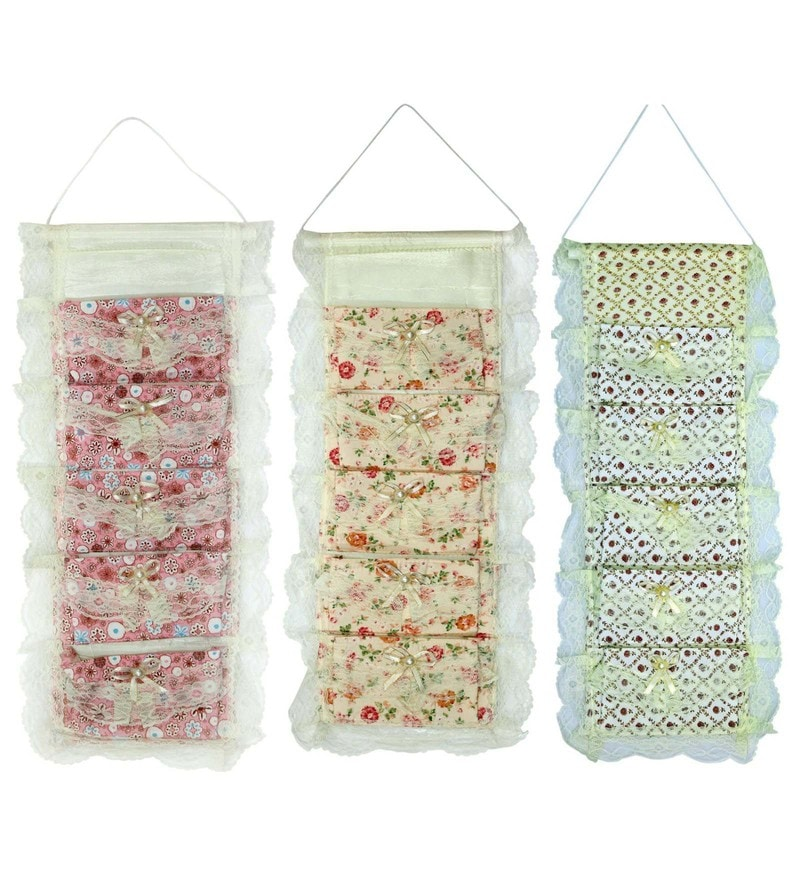 Fabric Wall Hanging Organisers by Home Creations - Set of 3