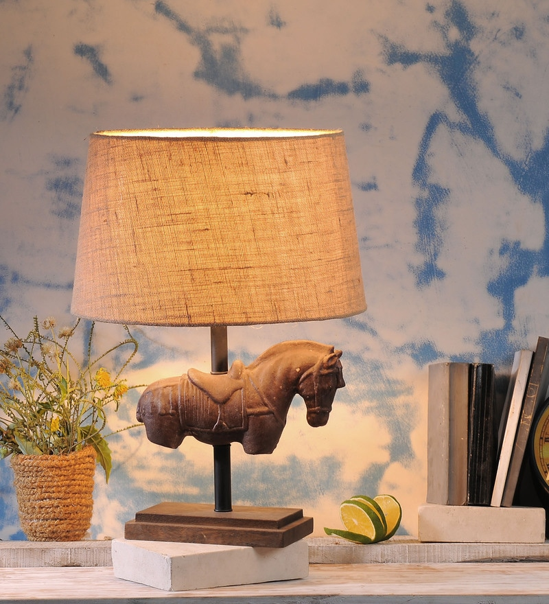 Beige Jute Thorsen Table Lamp by Fabuliv