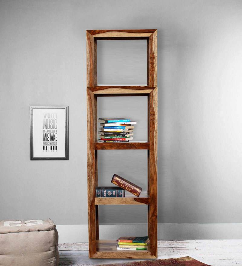 Fairmont Book Shelf in Natural Sheesham Wood Finish by Woodsworth