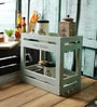 Fabuliv Smoky Turquoise Mango Wood 2 Tier Utility Stand