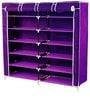 Pindia Fancy Fabric Purple 6-Layer Shoe Rack
