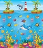 Non Woven Free Play Mat Under Water in Multicolor by FashBlush