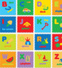 Padded Eva Base Pictured Alphabets Puzzle Play Mat 26 Pieces by FashBlush