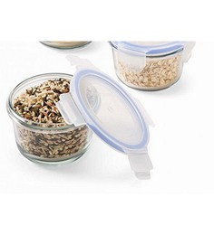 Femora Borosilicate Round Food Storage Container - Set Of 2