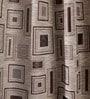 Brown & Orange Jacquard Curtains - Set Of 2 by Fflaunt