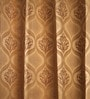 Fflaunt Gold Jacquard Curtains - Set Of 2