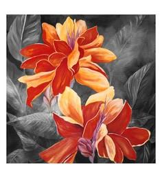 Canvas 24 X 24 Inch Flower Unframed Handpainted Art Painting