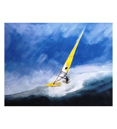 Canvas 32 X 24 Inch Sports Unframed Handpainted Art Painting