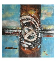 Canvas 32 X 32 Inch Abstract Unframed Handpainted Art Painting - 1608376