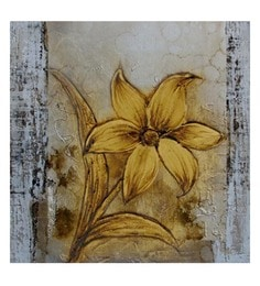 Canvas 32 X 32 Inch Gold Unframed Handpainted Art Painting
