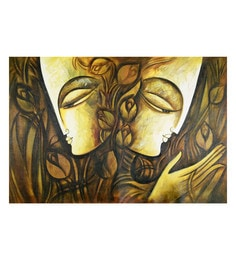 Canvas 35 X 24 Inch You & Me Unframed Handpainted Art Painting