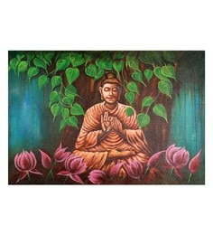 Canvas 36 X 24 Inch Contemplation Unframed Handpainted Art Painting