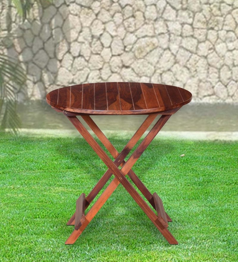 Fife Outdoor Table in Provincial Teak Finish by Woodsworth