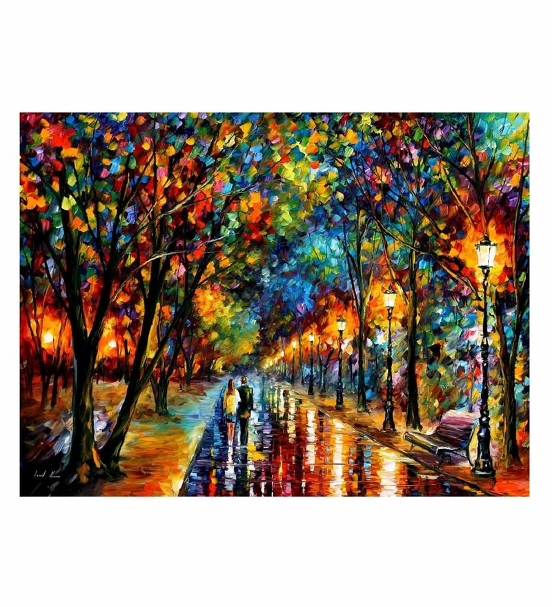 Canvas 40 x 30 Inch When Dreams Come True Unframed Handpainted Art Painting by Fizdi Art Store