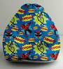 FightingSpiderman Digital Printed Bean Bag XXL Filled with Beans by Orka(With Small - cushion Inside)