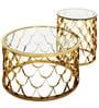 Fisherman Coffee Table with Glass Top & Golden Base by Bent Chair
