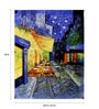 Fizdi Canvas 20 x 0.2 x 30 Inch Vangogh Terrace Unframed Art Painting