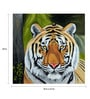 Canvas 24 x 0.2 x 18 Inch Tiger Art 1 Framed Art Painting by Fizdi