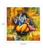 Fizdi Canvas 26 x 0.2 x 26.4 Inch Radha Krishna Love Forever Unframed Art Painting