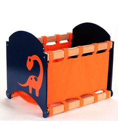 FLYFROG KIDS Dinosaur Blue And Orange Wood And MDF 1.5 Kg Storage Box