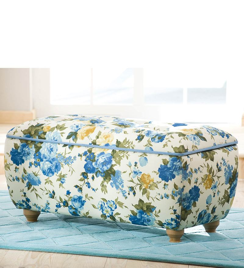 Flora Storage Ottoman in Blue by Cilek Room