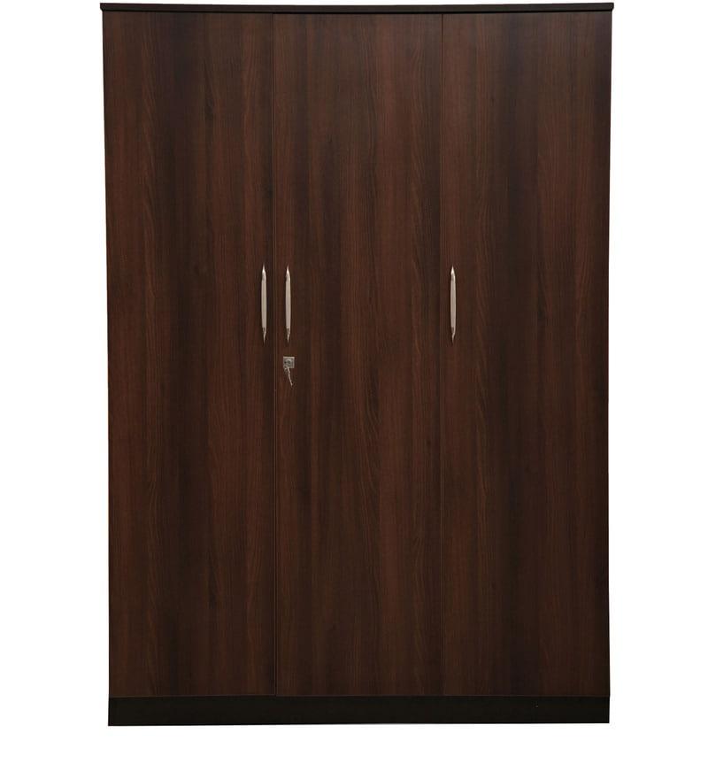 Buy Florence Three Door Wardrobe In Wenge Walnut Colour