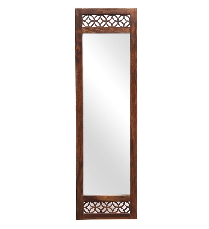 Carved Teak Magic Wardrobe.Florito Full Length Mirror With Carved Solid Wood Frame In Provincial Teak Finish By Woodsworth