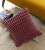 Floor and Furnishings Plum Cotton 16 x 16 Inch Deco Cushion Covers - Set of 2