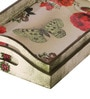 Fluke Design Company White MDF Floral Decoupage Tray - Set of 2