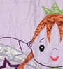 Purple Cotton Princess 90 x 60 Inch Quilt by FLYFROG KIDS