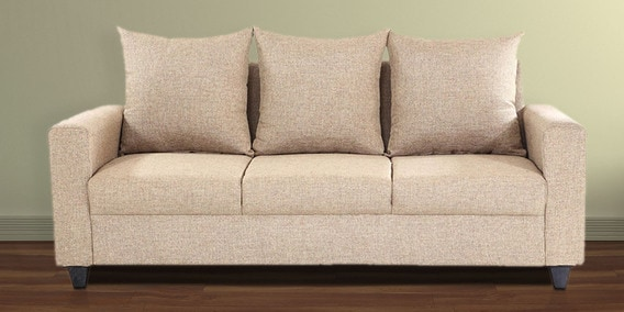 Foshan Three Seater Sofa In Beige Colour