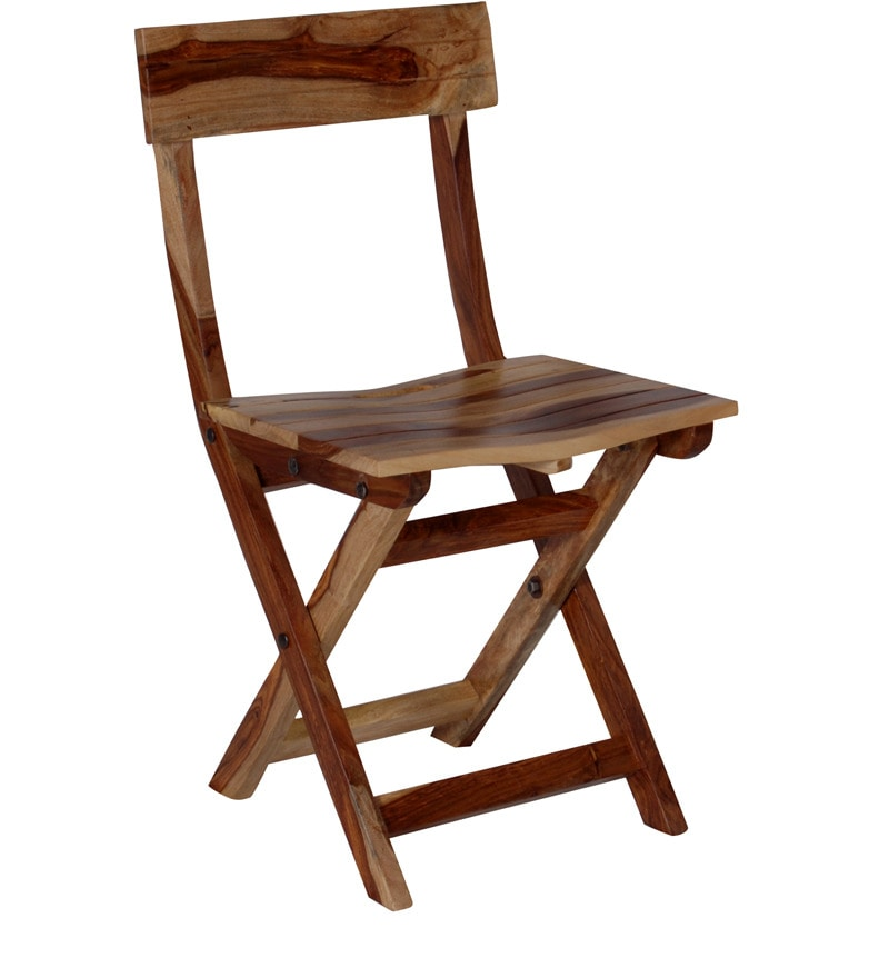 Buy Fife Solid Wood Folding Chair In Natural Sheesham