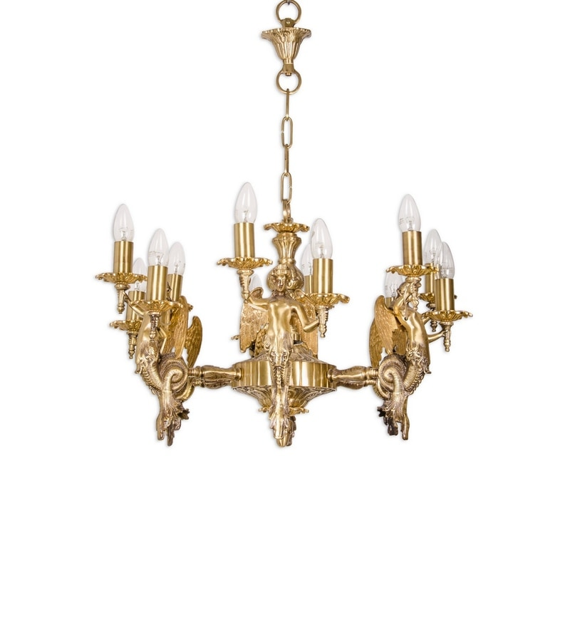 Buy gold brass chandelier by fos lighting online colonial click to zoom inout aloadofball Images