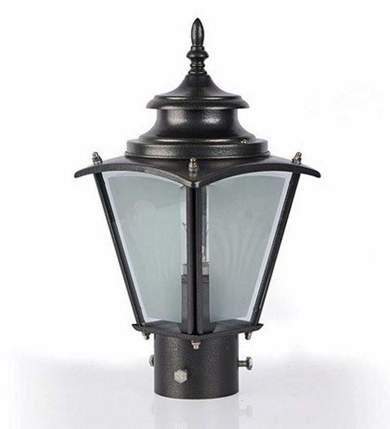 Fos Lighting Upward Single Shade Aluminum Outdoor Gate Light