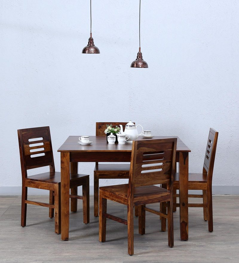 Valencia Four Seater Dining Set in Provincial Teak Finish by Woodsworth
