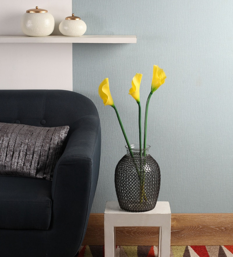 Yellow Polyurethane Artificial Calla Lilies by Fourwalls