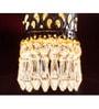 Fos Lighting Carved Cylinder Crystal Pendant