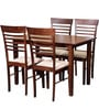 Moe Four Seater Dining Set in Walnut Finish by Mintwud