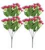 Pink Artificial Daisy Flower - Set of Four by Fourwalls