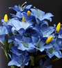 Blue Artificial Lily Flowers - Set of 2 by Fourwalls