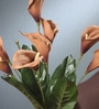 Brown Foam Latex Calla Lily Artificial Flower Bouquet by Fourwalls