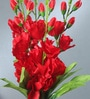 Multicolour Fabric Gladiolus Artificial Flower Bouquet by Fourwalls