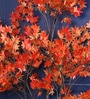 Orange Polyester 620 Leaves Artificial Japanese Maple Floor Plant by Fourwalls