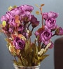 Fourwalls Purple Fabric Magnificent Artificial Rose Bunch - Set of 2
