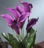 Purple Foam Latex Calla Lily Artificial Flower Bouquet by Fourwalls